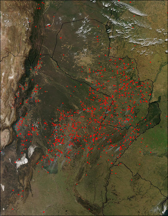 Fires In Brazil Argentina And Paraguay Natural Hazards