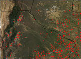 Fires in Brazil, Argentina, and Paraguay