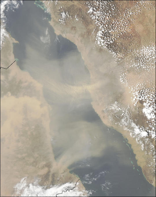 Dust Storm Over Red Sea