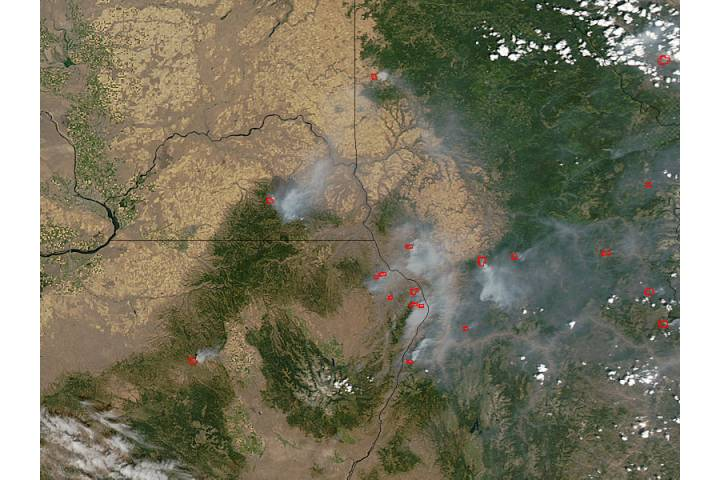 Fires in northwestern United States - selected image