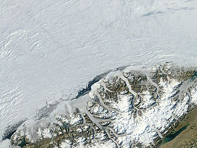 Ayles Ice Shelf before collapse, Ellesmere Island, Canada - related image preview