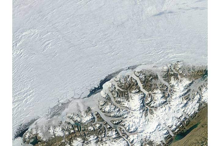 Ayles Ice Shelf before collapse, Ellesmere Island, Canada - selected image