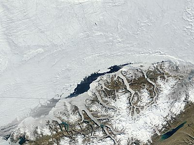 Ayles Ice Shelf after collapse, Ellesmere Island, Canada - related image preview
