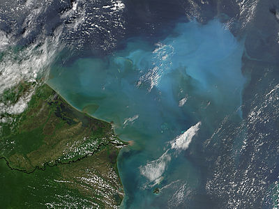 Resuspened bottom sediments off Honduras - related image preview