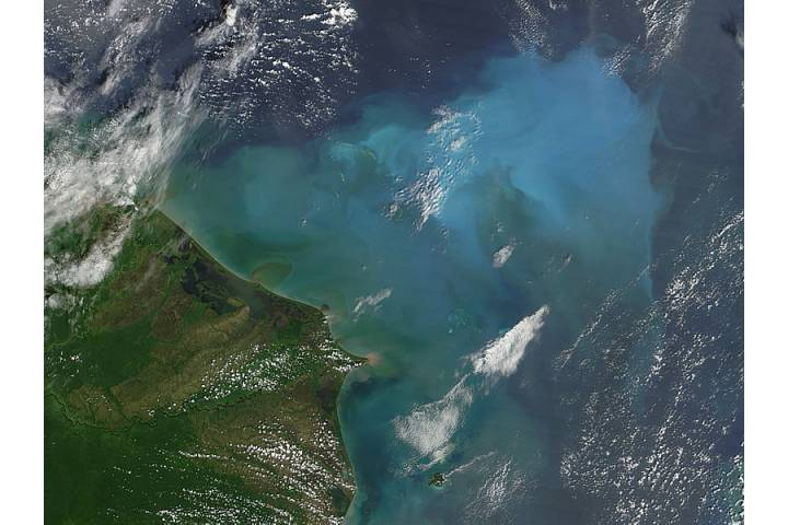 Resuspened bottom sediments off Honduras - selected image