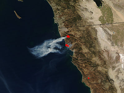 Fires in northern Baja California - related image preview
