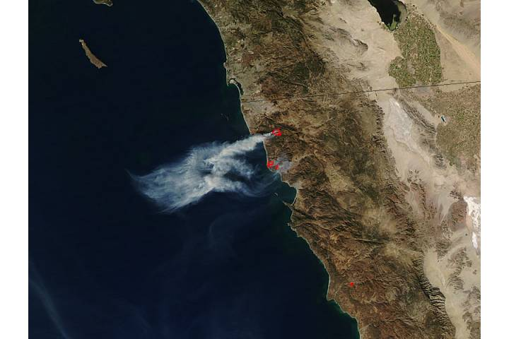 Fires in northern Baja California - selected image