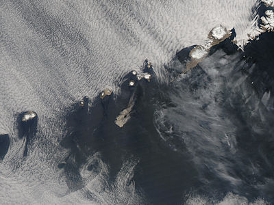Ash plume from Mt. Cleveland, Chuginadak Island, Aleutian Islands - related image preview