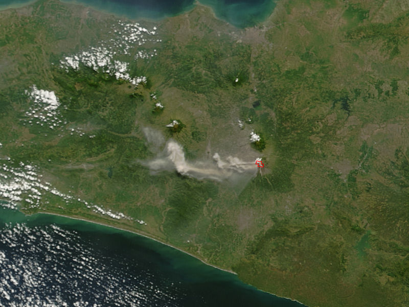 Ash plume from Merapi volcano, Java, Indonesia - related image preview