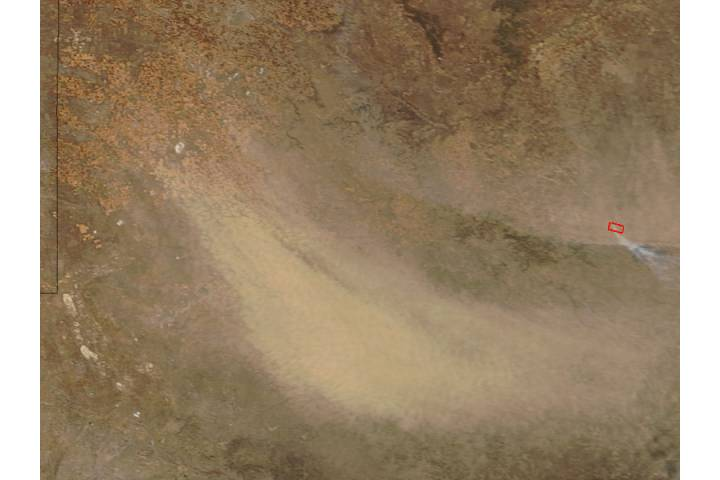 Dust storm in northern Texas - selected image