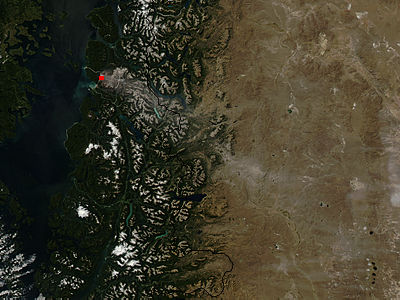 Ash on ground from Chaiten volcano, Chile - related image preview