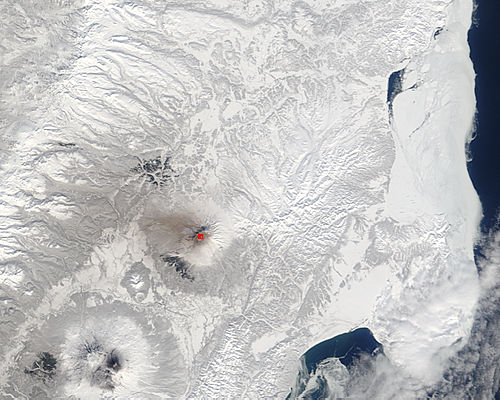 Ash from Shiveluch, Kamchatka Peninsula, eastern Russia - related image preview