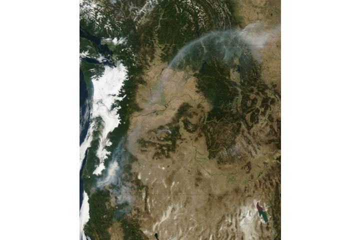 Smoke from wildfires in Oregon - selected image
