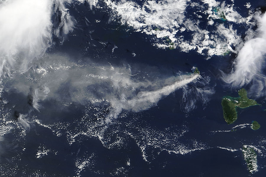 Ash Plume from Soufriere Hills, Montserrat - related image preview