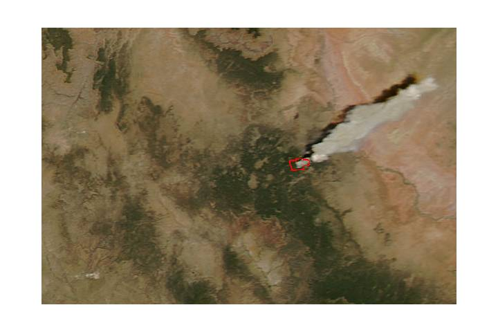 Wildfire in northern Arizona - selected image