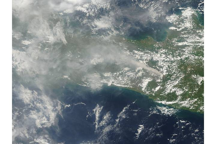 Ash plume from Mount Merapi, Indonesia - selected image
