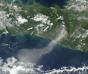 Ash plume from Mount Merapi, Indonesia - related image preview