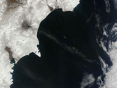 Ash from Karymsky, Kamchatka Peninsula, eastern Russia - related image preview