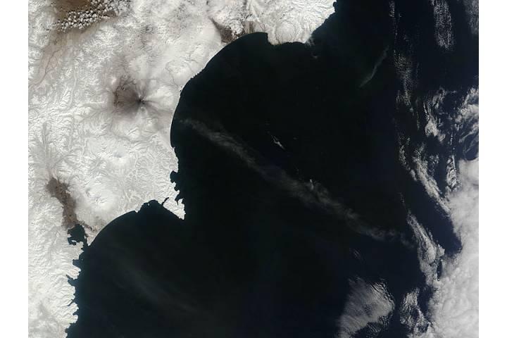 Ash from Karymsky, Kamchatka Peninsula, eastern Russia - selected image