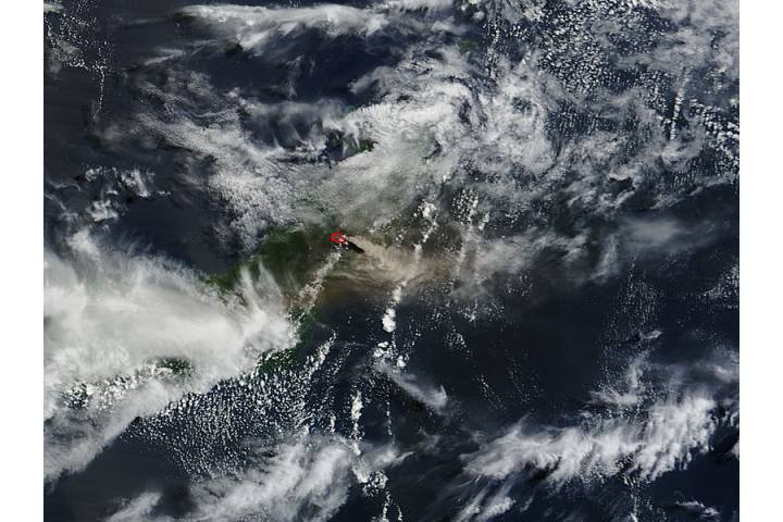 Eruption of Soputan volcano, Sulawesi Island, Indonesia - selected image