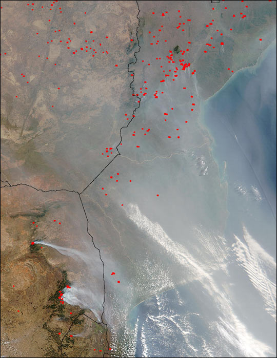Fires in Southeastern Africa