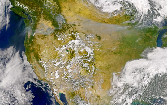 Smoke over Pacific Northwest - related image preview