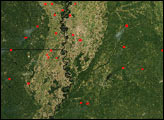 Fires in Mississippi Valley