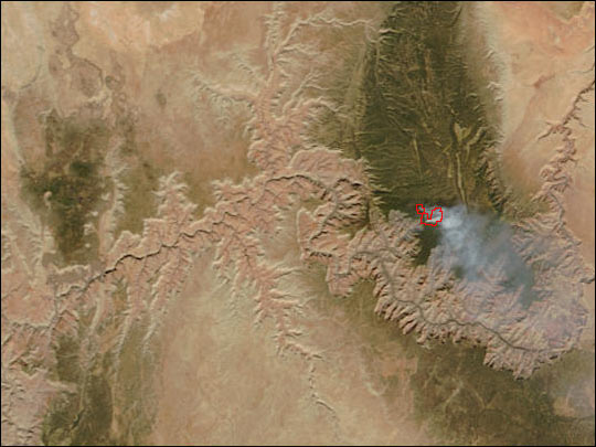 Fire in Grand Canyon National Park