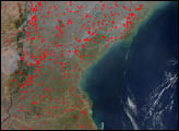 Fires in Southeast Africa and Madagascar