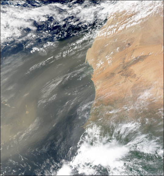 Dust Blowing off West Africa