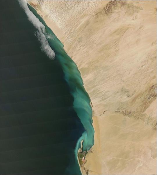 Sulfur Plume along Namibian Coast