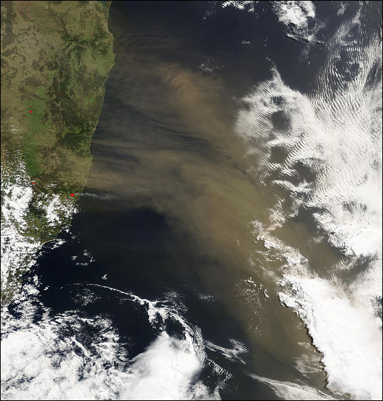 Dust Storm off Australia