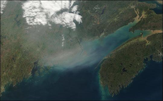 Smoke Transport Across the U.S.