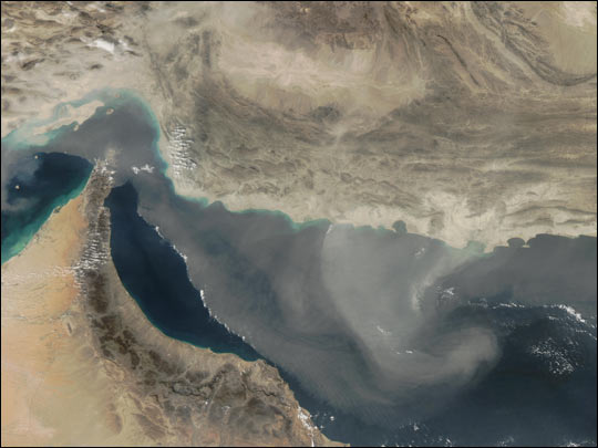 Dust Storm on the Gulf of Oman