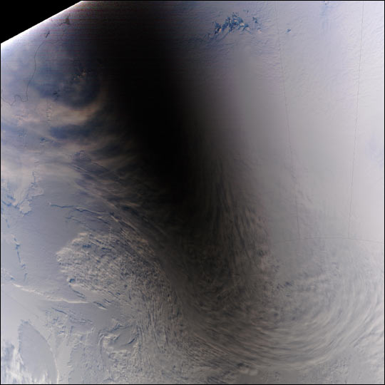Total solar eclipse over Antarctica