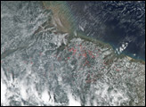 Fires Near the Mouth of the Amazon