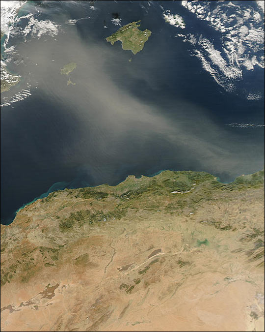 Dust Storm off Algeria