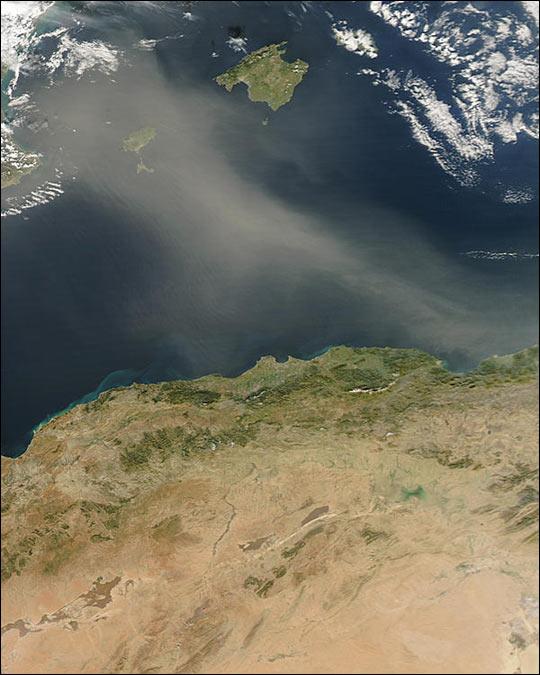 Dust Storm off Algeria