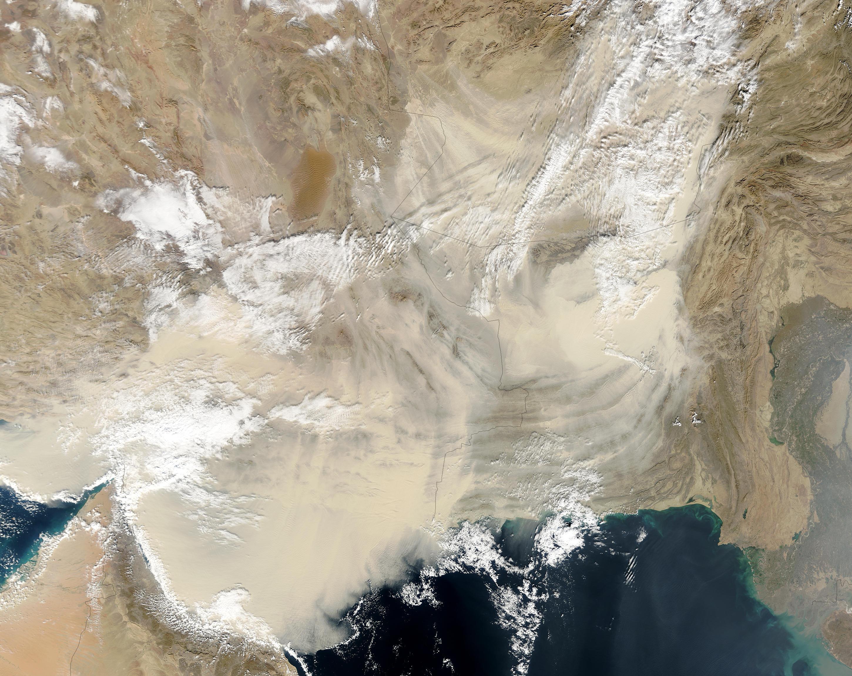 NASA Visible Earth: Dust over Arabian Sea