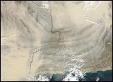 Dust over Arabian Sea