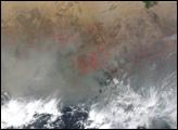 Dust  near Lake Chad