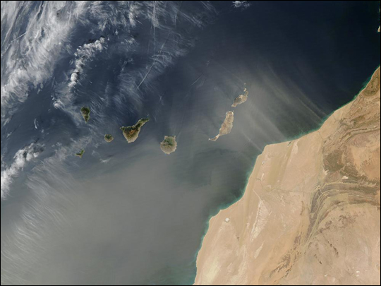 Saharan Dust over Canary Islands