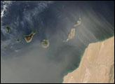 Saharan Dust over Canary Islands