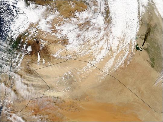 Dust Storm over Jordan