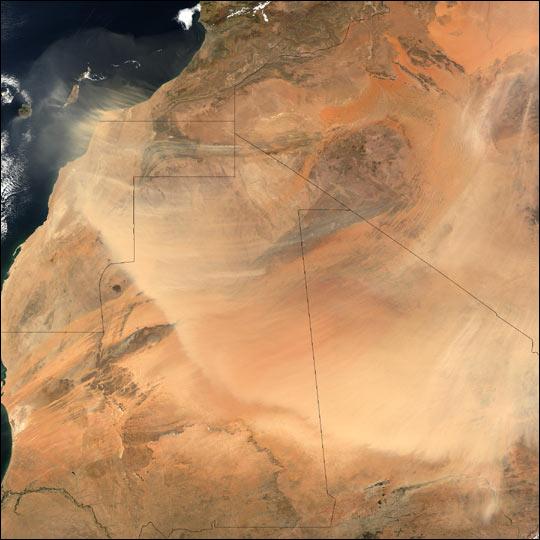 Saharan Dust Across West Africa