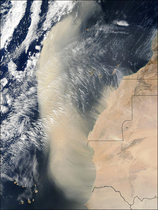 Saharan Dust Across West Africa
