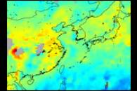Pollution over China