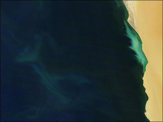 Hydrogen Sulfide Eruption Along the Coast of Namibia