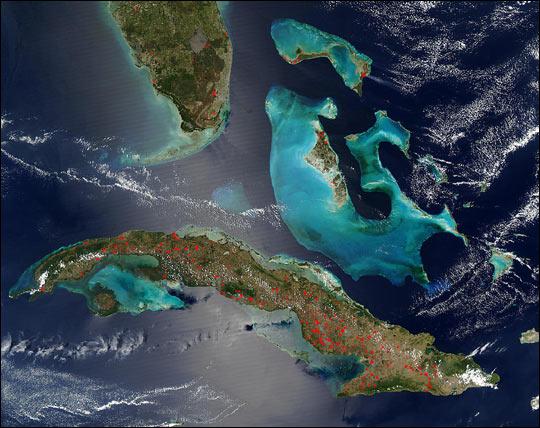 Fires on Cuba