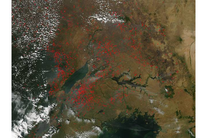 Fires in eastern Africa - selected image